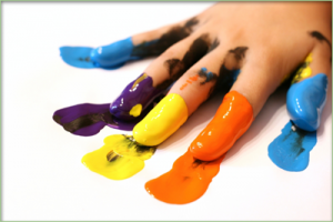 coloured-fingers-at-school